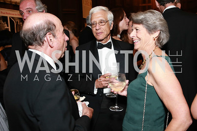Calvin Trillin, Joe Onek, Margot Onek. Photo by Alfredo Flores. 2013 PEN Faulkner Gala Renewal. Folger Shakespeare Library. October 7, 2013