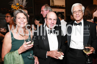Margot Onek, Calvin Trillin, Joe Onek. Photo by Alfredo Flores. 2013 PEN Faulkner Gala Renewal. Folger Shakespeare Library. October 7, 2013