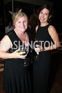 Carolyn Peachy, Kellie Robertson. Photo by Alfredo Flores. 2013 PEN Faulkner Gala Renewal. Folger Shakespeare Library. October 7, 2013