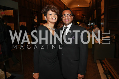 Dolen Perkins-Valdez, David Valdez. Photo by Alfredo Flores. 2013 PEN Faulkner Gala Renewal. Folger Shakespeare Library. October 7, 2013