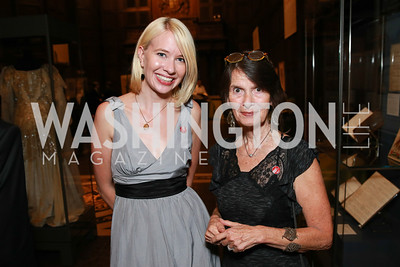 Elizabeth Gutting, Susan Shreve. Photo by Alfredo Flores. 2013 PEN Faulkner Gala Renewal. Folger Shakespeare Library. October 7, 2013