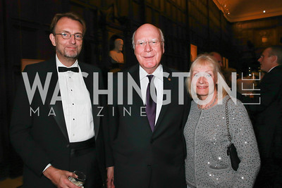 Richard Paner, Sen. Patrick Leahy, Marcelle Leahy. Photo by Alfredo Flores. 2013 PEN Faulkner Gala Renewal. Folger Shakespeare Library. October 7, 2013