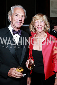John Jeppson, Wendy Benchley. Photo by Alfredo Flores. 2013 PEN Faulkner Gala Renewal. Folger Shakespeare Library. October 7, 2013