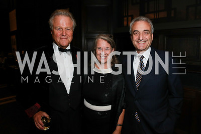 Robin West, Joanne Leedom-Ackerman, Peter Ackerman. Photo by Alfredo Flores. 2013 PEN Faulkner Gala Renewal. Folger Shakespeare Library. October 7, 2013