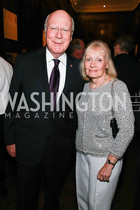 Sen. Patrick Leahy, Marcelle Leahy. Photo by Alfredo Flores. 2013 PEN Faulkner Gala Renewal. Folger Shakespeare Library. October 7, 2013