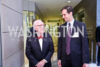 Justice John Paul Stevens, Public Citizen President Robert Weissman. Photo by Tony Powell. Public Citizen Gala, Reagan Building. May 16, 2013