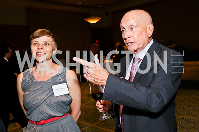 Margaret Rangnes, Tom Dempsey. Photo by Tony Powell. Public Citizen Gala, Reagan Building. May 16, 2013