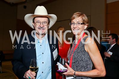 Jim Hightower, Angela Bradbery. Photo by Tony Powell. Public Citizen Gala, Reagan Building. May 16, 2013