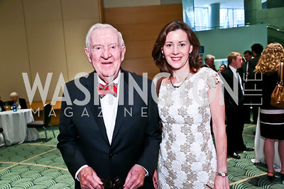 Justice John Paul Stevens and daughter Susan Mullen. Photo by Tony Powell. Public Citizen Gala, Reagan Building. May 16, 2013