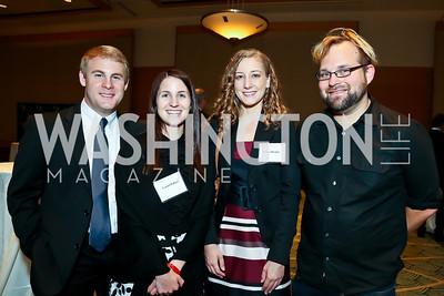 Tyler Sniff, Laurel Palluzi, Jessica Krupke, Robin Bell. Photo by Tony Powell. Public Citizen Gala, Reagan Building. May 16, 2013