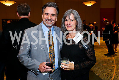 Steve Skrovan, Shelley Powsner. Photo by Tony Powell. Public Citizen Gala, Reagan Building. May 16, 2013