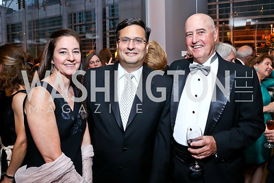 Monica Medina, Ronald Klain, Charles Burson. Photo by Tony Powell. 2013 Shakespeare Theatre Company Annual Gala. Harman Center and Building Museum. October 6, 2013
