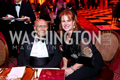 Rep. John Dingell, Beth Viehmeyer. Photo by Tony Powell. 2013 Shakespeare Theatre Company Annual Gala. Harman Center and Building Museum. October 6, 2013