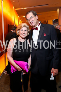 Nina Totenberg and Dr. David Reines. Photo by Tony Powell. 2013 Shakespeare Theatre Company Annual Gala. Harman Center and Building Museum. October 6, 2013