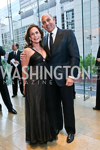 Melissa Moss and Jonathan Silver. Photo by Tony Powell. 2013 Shakespeare Theatre Company Annual Gala. Harman Center and Building Museum. October 6, 2013