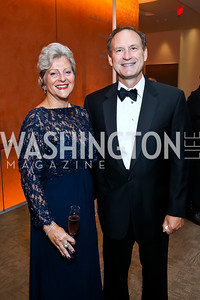 Martha Ann Alito and Justice Samuel Alito. Photo by Tony Powell. 2013 Shakespeare Theatre Company Annual Gala. Harman Center and Building Museum. October 6, 2013