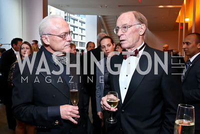 Tom Woteki, Larry Hough. Photo by Tony Powell. 2013 Shakespeare Theatre Company Annual Gala. Harman Center and Building Museum. October 6, 2013