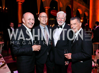 Victor Shargai, Craig Pascal, Rep. Jim Moran, Conrad Cafritz. Photo by Tony Powell. 2013 Shakespeare Theatre Company Annual Gala. Harman Center and Building Museum. October 6, 2013