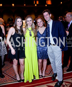 Alexa Stern, Alice Berman, Nina Haydock, Tucker Johns. Photo by Tony Powell. So Others Might Eat Gala 2013. Building Museum. November 23, 2013
