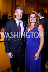 Former Senator Scott Brown and Gail Huff. Photo by Tony Powell. So Others Might Eat Gala 2013. Building Museum. November 23, 2013