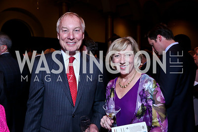 Maryland Comptroller Peter Franchot, Anne Maher. Photo by Tony Powell. So Others Might Eat Gala 2013. Building Museum. November 23, 2013