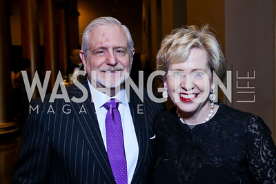 Jim Gale and Lisa Barry. Photo by Tony Powell. So Others Might Eat Gala 2013. Building Museum. November 23, 2013