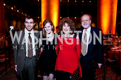 Dru Hortum, Emelia Leiter, Jane and Joel Greenstein. Photo by Tony Powell. So Others Might Eat Gala 2013. Building Museum. November 23, 2013