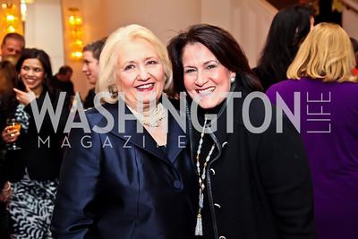 Melanne Verveer, Anita McBride. Photo by Tony Powell. Vital Voices Global Leadership Awards. Kennedy Center. April 2, 2013