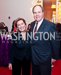 Bobbie Greene McCarthy, Joe Reeder. Photo by Tony Powell. Vital Voices Global Leadership Awards. Kennedy Center. April 2, 2013