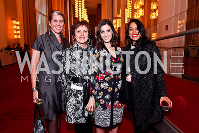 Cynthia Ryan, Maureen Orth, Victoria Lewis, Penny Abeywardena. Photo by Tony Powell. Vital Voices Global Leadership Awards. Kennedy Center. April 2, 2013