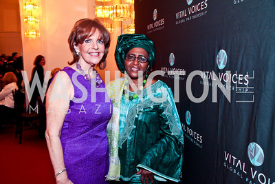 Susan Davis, Dr. Hawa Abdi. Photo by Tony Powell. Vital Voices Global Leadership Awards. Kennedy Center. April 2, 2013