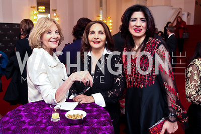 Nancy Camel, Samia Farouki, Mazal Zraiq. Photo by Tony Powell. Vital Voices Global Leadership Awards. Kennedy Center. April 2, 2013