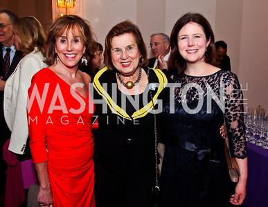 Valerie Biden Owens, Claudine Bacher, Uri Perrin. Photo by Tony Powell. Vital Voices Global Leadership Awards. Kennedy Center. April 2, 2013