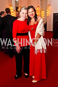 Jeanne Ruesch, Mayesha Alam. Photo by Tony Powell. Vital Voices Global Leadership Awards. Kennedy Center. April 2, 2013
