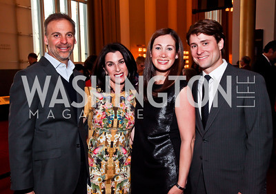 Adam and Tracy Bernstein, Sarah and Ben Wallerstein. Photo by Tony Powell. Vital Voices Global Leadership Awards. Kennedy Center. April 2, 2013