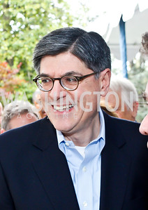 Treasury Sec. Jack Lew. Photo by Tony Powell. 2013 WHC Allbritton Brunch. Bowie-Sevier House. April 28, 2013