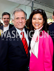 Les Moonves and Julie Chen. Photo by Tony Powell. 2013 WHC Allbritton Brunch. Bowie-Sevier House. April 28, 2013