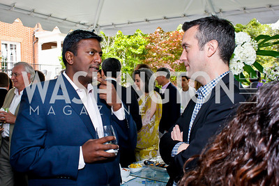 Peter Cherukuri, Michael Hogan. Photo by Tony Powell. 2013 WHC Allbritton Brunch. Bowie-Sevier House. April 28, 2013