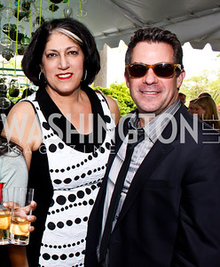Tammy Haddad, Jeremy Bernard. Photo by Tony Powell. 2013 WHC Allbritton Brunch. Bowie-Sevier House. April 28, 2013