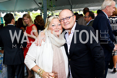 Connie Millstein, Franco Nuschese. Photo by Tony Powell. 2013 WHC Allbritton Brunch. Bowie-Sevier House. April 28, 2013