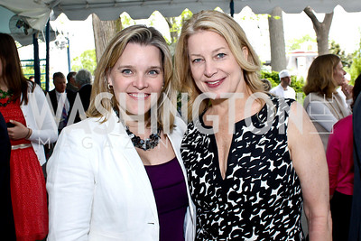 Kelley McCormick, CNN's Edie Emery. Photo by Tony Powell. 2013 WHC Allbritton Brunch. Bowie-Sevier House. April 28, 2013