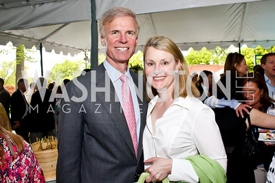 Fred and Genevieve Ryan. Photo by Tony Powell. 2013 WHC Allbritton Brunch. Bowie-Sevier House. April 28, 2013