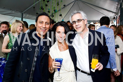 Actor Aasif Mandvi, Susan Toffler. Photo by Tony Powell. 2013 WHC Allbritton Brunch. Bowie-Sevier House. April 28, 2013