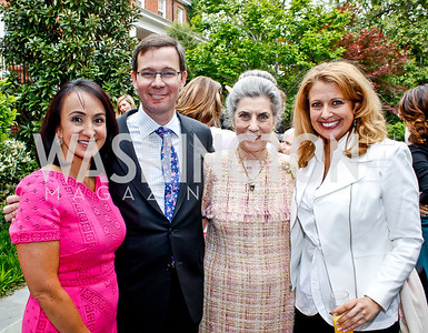 Elena, Robert and Barbara Allbritton, ABC7/WJLA-TV News reporter and Washington Business Report anchor Rebecca Cooper. Photo by Tony Powell. 2013 WHC Allbritton Brunch. Bowie-Sevier House. April 28, 2013