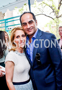 CNN's Dana Bash, Homeland's Navid Negahban. Photo by Tony Powell. 2013 WHC Allbritton Brunch. Bowie-Sevier House. April 28, 2013