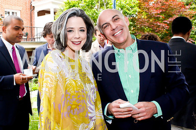 Heather Podesta, Jonathan Silver. Photo by Tony Powell. 2013 WHC Allbritton Brunch. Bowie-Sevier House. April 28, 2013