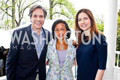 Tony Blinken, US Amb. to the United Nations Susan Rice, Evan Ryan. Photo by Tony Powell. 2013 WHC Allbritton Brunch. Bowie-Sevier House. April 28, 2013