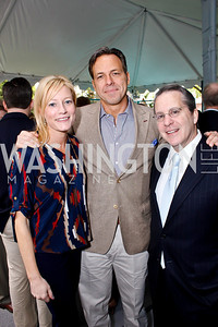 Jennifer and Jake Tapper, Gene Sperling. Photo by Tony Powell. 2013 WHC Allbritton Brunch. Bowie-Sevier House. April 28, 2013