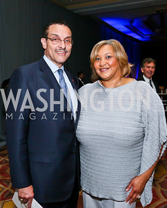 Mayor Vincent Gray, Ward 7 Councilmember Yvette Alexander. Photo by Tony Powell. 2013 WTEF Tennis Ball. Ritz Carlton. May 10, 2013