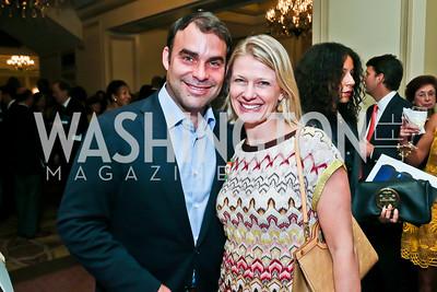 Manny Ortiz and Kristin Solheim. Photo by Tony Powell. 2013 WTEF Tennis Ball. Ritz Carlton. May 10, 2013